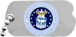 U.S. Air Force Dog Tag Emblem Hat or Lapel Pin