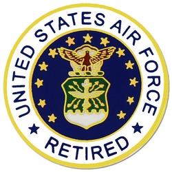 U.S. Air Force Retired Emblem Hat or Lapel Pin