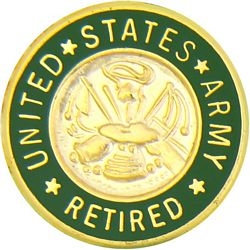 U.S. Army Retired Gold Hat or Lapel Pin