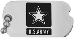 U.S. Army Dog Tag Logo Hat or Lapel Pin