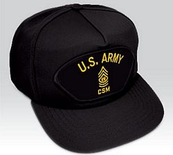 US Army Command Sergeant Major (CSM) Ball Cap