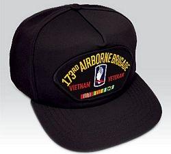 US Army 173rd Airborne Brigade Vietnam Veteran Ball Cap