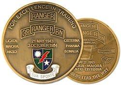 U.S. Army 3rd Ranger Battalion Challenge Coin