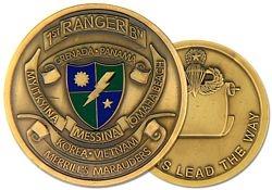 U.S. Army 1st Ranger Battalion Challenge Coin
