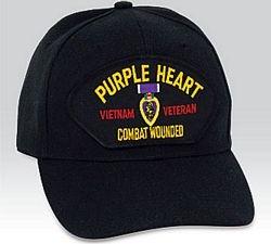 Purple Heart Medal Vietnam Veteran Low Profile Ball Cap