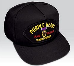 Purple Heart Iraq Ball Cap