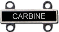 US Army Carbine Qualification Badge (Antique Silver Finish)
