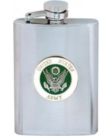 U.S. Army Stainless Steel Flask 6 oz. with Screw Down Lid