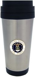 American Flag w/ Wreath Stainless Steel Flask 8 oz. with Screw Down Lid