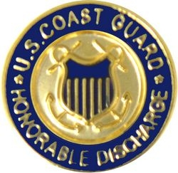 U.S. Coast Guard Honorable Discharge Hat or Lapel Pin