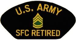 U.S. Army SFC Retired Patch (Large)
