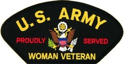 U.S. Army Woman Veteran Patch (Large)