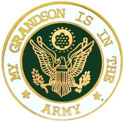 "U.S. Army ""My U.S. Army Grandson"" Hat or Lapel Pin"
