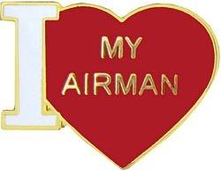 "U.S. Air Force ""I Love My Airman"" Hat or Lapel Pin"