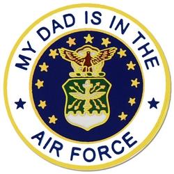 "U.S. Air Force ""My Air Force Dad"" Hat or Lapel Pin"