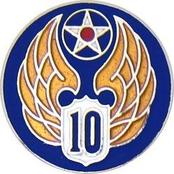 U.S. Air Force 10th Air Force Hat or Lapel Pin
