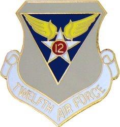 U.S. Air Force 12th Air Force Hat or Lapel Pin