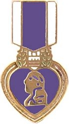 Purple Heart Medal Hat or Lapel Pin
