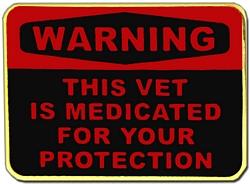 Medicated Vet Hat or Lapel Pin