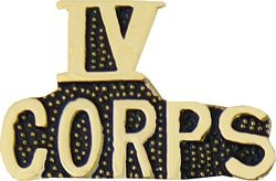 IV Corps Hat or Lapel Pin