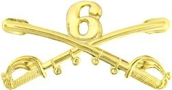 "6th Cavalry Crossed Sabers Badge (2 1/4"")"