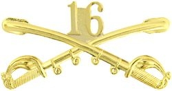 "16th Cavalry Crossed Sabers Badge (2 1/4"")"