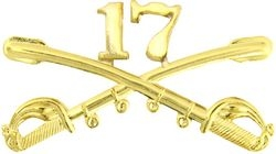"17th Cavalry Crossed Sabers Badge (2 1/4"")"