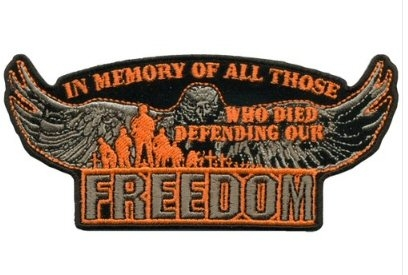 "Defending Our Freedom Eagle Back Patch (5"")"