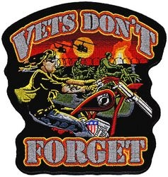 "Vets Don't Forget Back Patch (12"")"