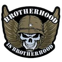 "Brother Is Brotherhood Skull Back Patch (10"")"