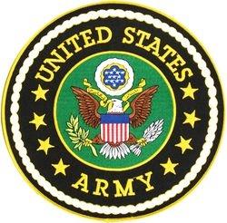 """U.S. Army Emblem Back Patch (10"""")"""