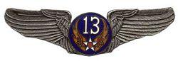 "U.S. Air Force 13rd Air Corps Wings (2 7/8"")"