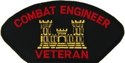 U.S. Army Combat Engineer Veteran Patch (Large)